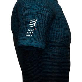 Compressport Trail Postural Maillot manches courtes zippé Homme, blue/melange